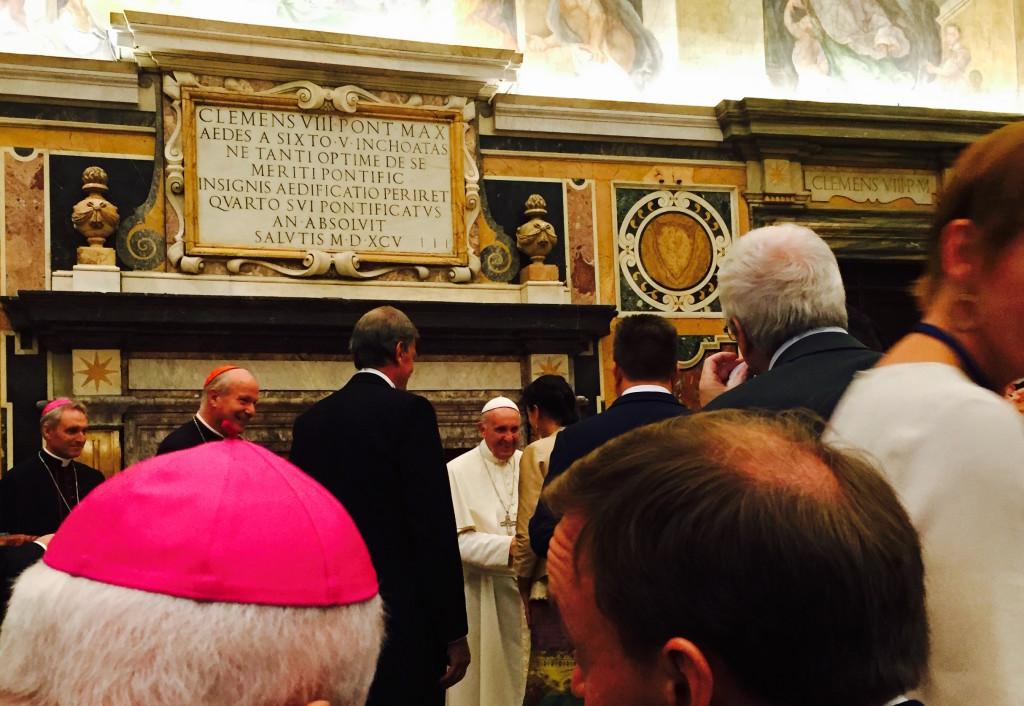 Kugler mit Papst, 28.8. 2016