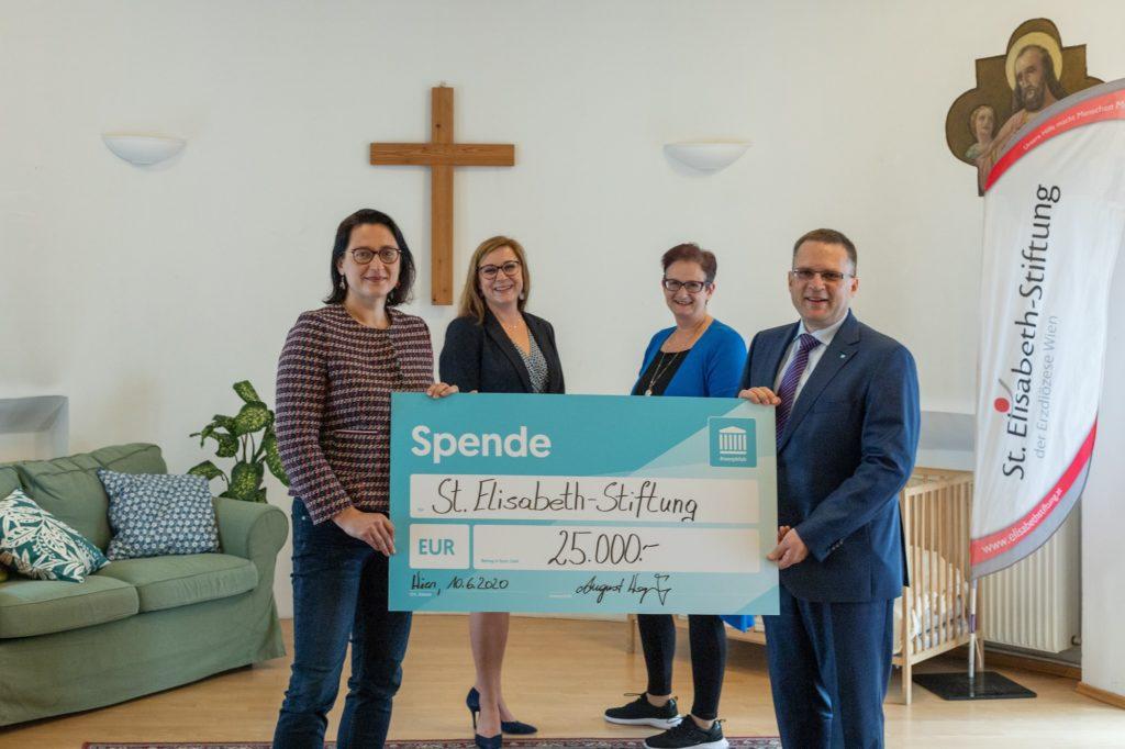 Spendenübergabe St Elisabeth Stiftung
